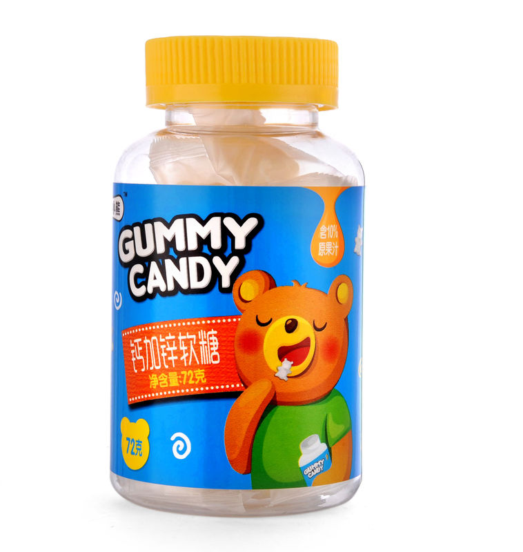 Gelatin Material Chewable Calcium Gummies With Individual Wrapped Bag